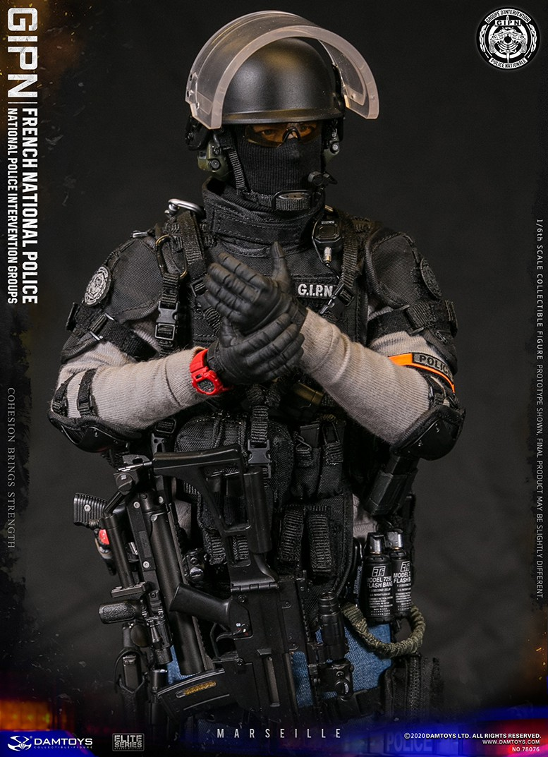 ModernMilitary - NEW PRODUCT: DAMTOYS: GIPN French National Police intervention team Marseille 17391010