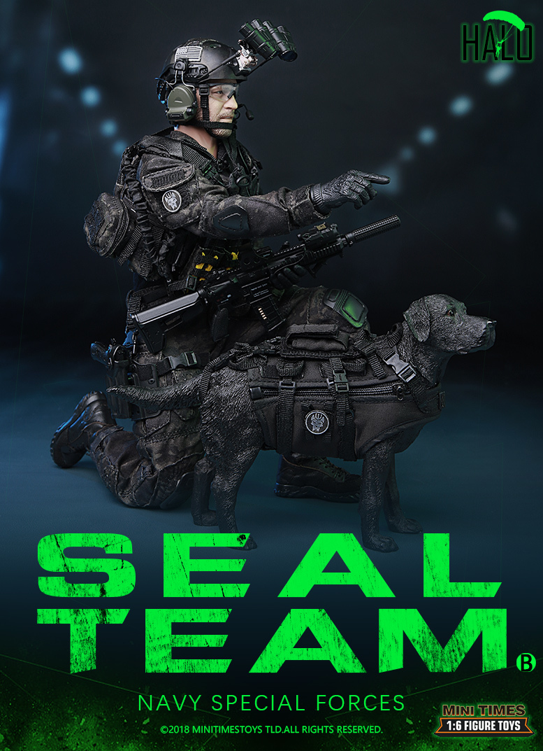 "Dog - NEW PRODUCT: MINI TIMES TOYS US NAVY SEAL TEAM SPECIAL FORCES ""HALO"" 1/6 SCALE ACTION FIGURE MT-M013 1743"