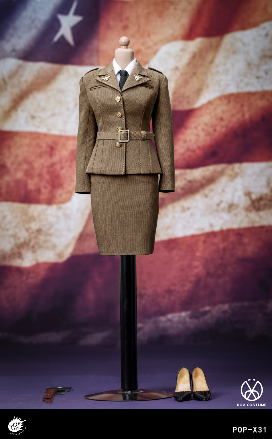 poptoys - NEW PRODUCT: POPTOYS: 1/6 Series X31 - World War II US Female Agent Uniform Set 17551010