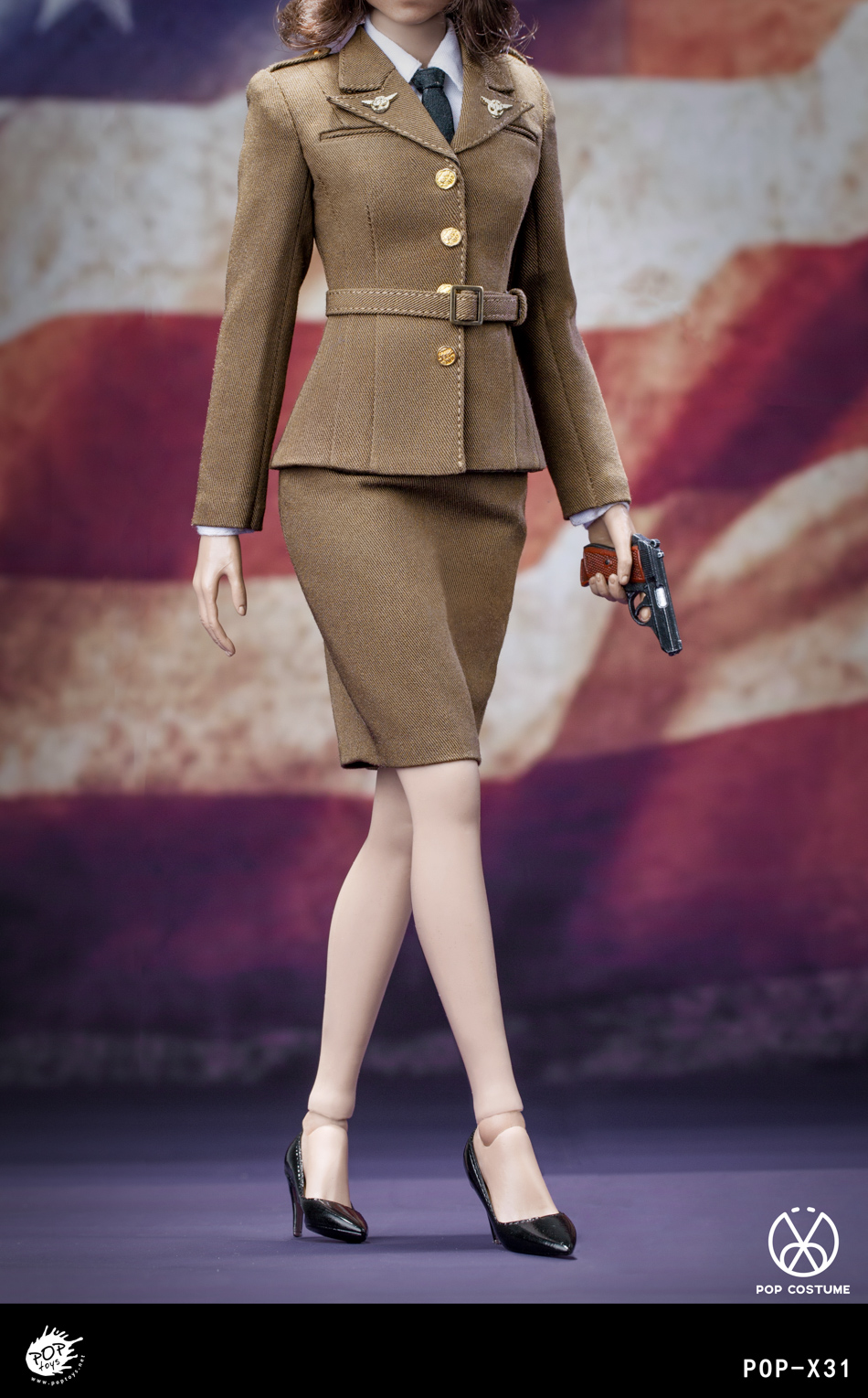 poptoys - NEW PRODUCT: POPTOYS: 1/6 Series X31 - World War II US Female Agent Uniform Set 17551110