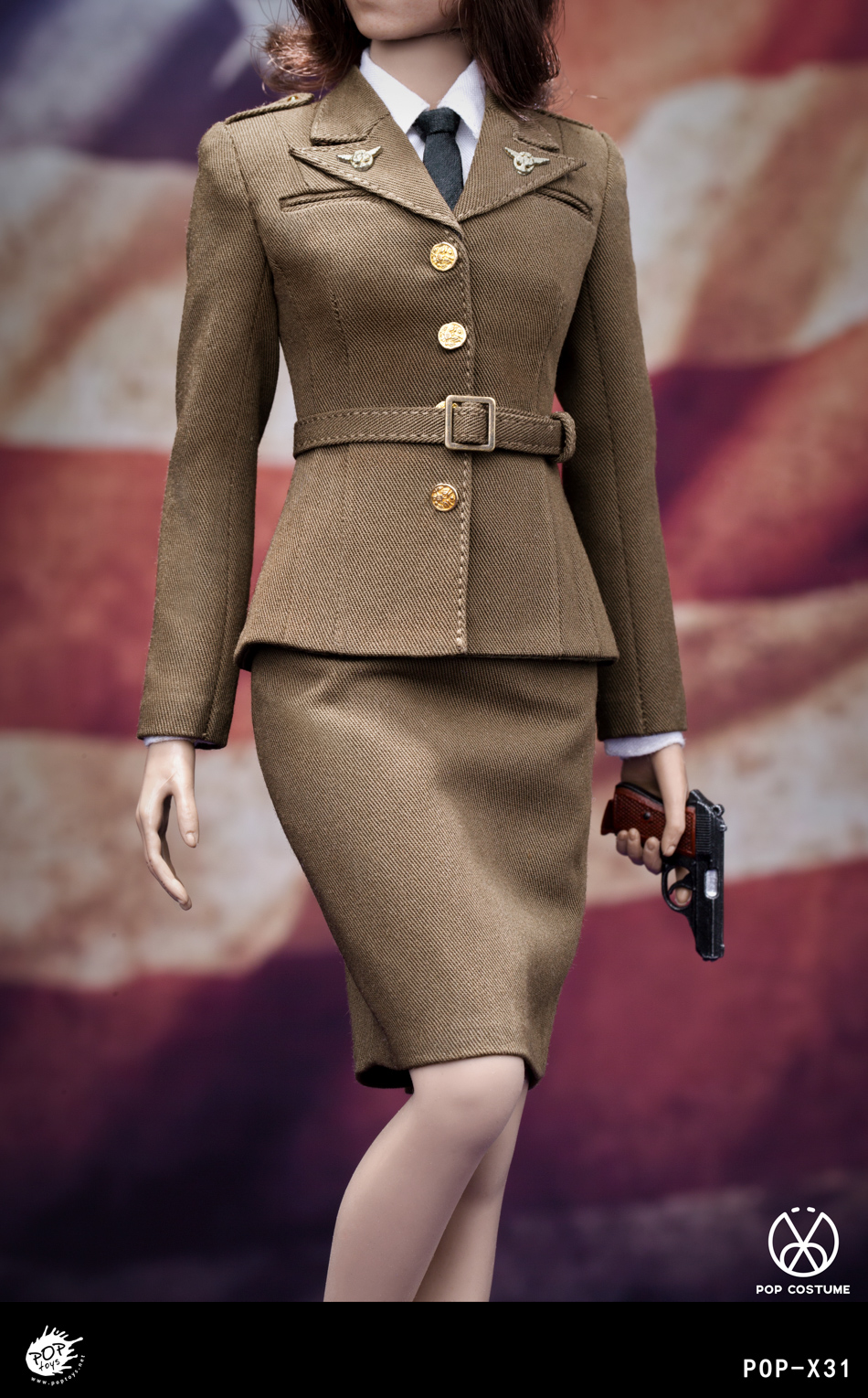 poptoys - NEW PRODUCT: POPTOYS: 1/6 Series X31 - World War II US Female Agent Uniform Set 17551111