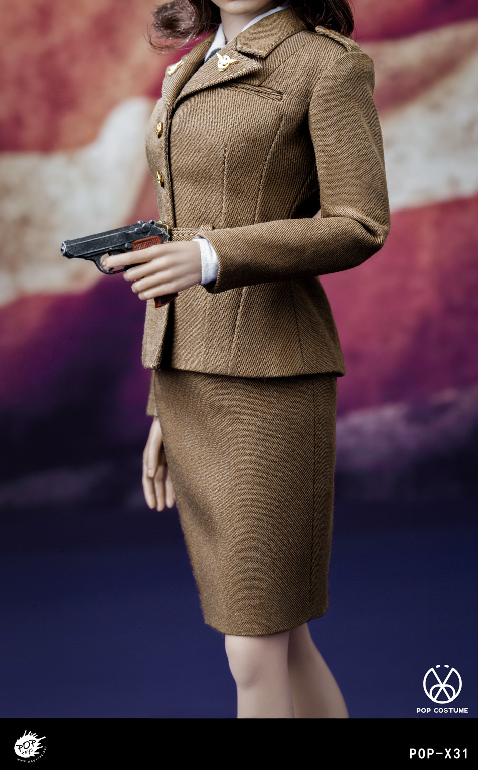 poptoys - NEW PRODUCT: POPTOYS: 1/6 Series X31 - World War II US Female Agent Uniform Set 17551210