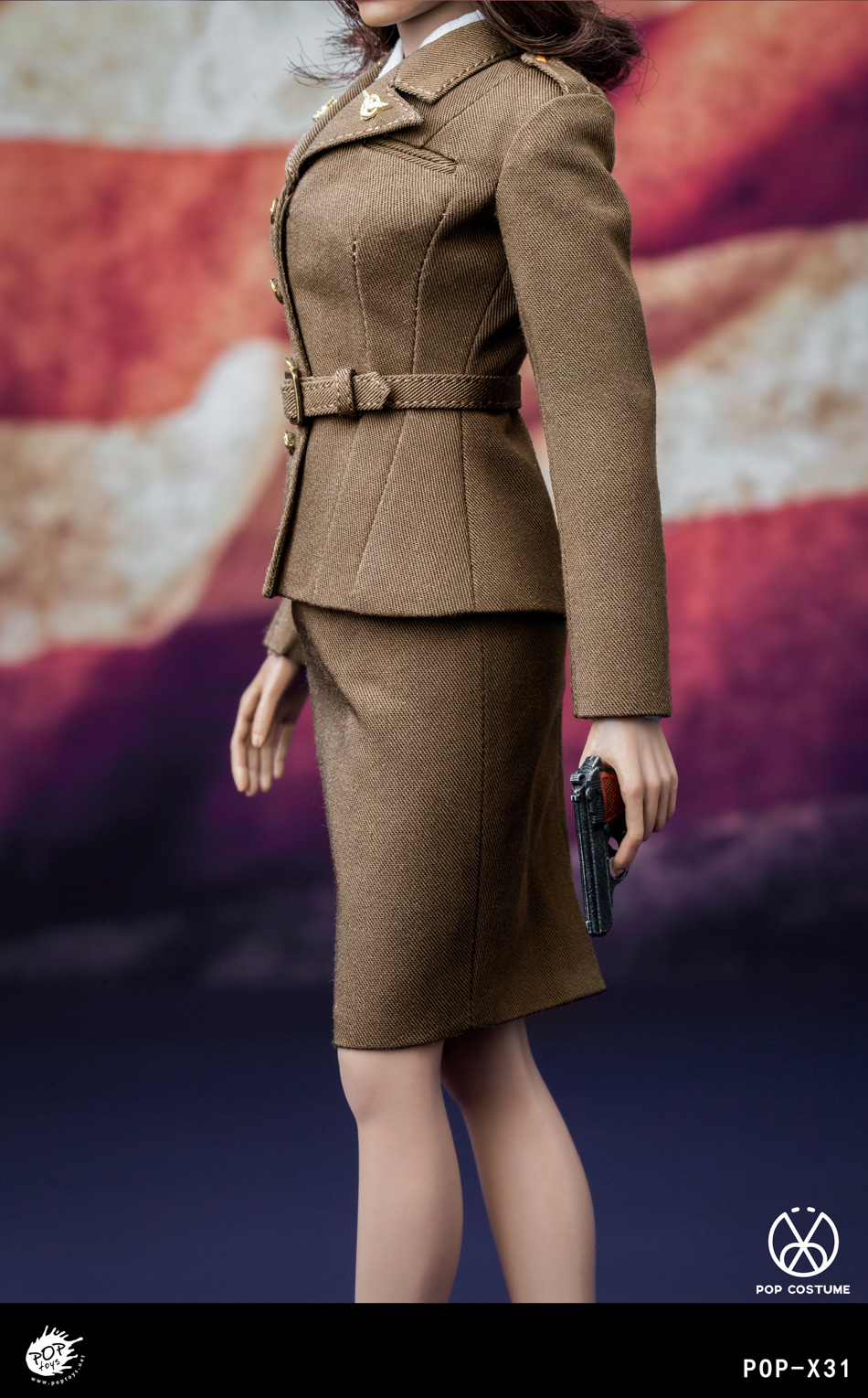female - NEW PRODUCT: POPTOYS: 1/6 Series X31 - World War II US Female Agent Uniform Set 17551310