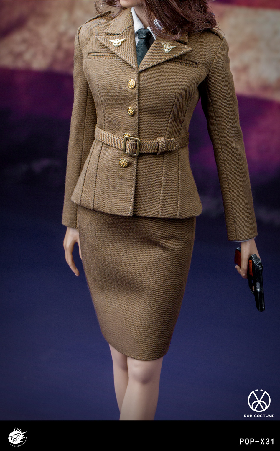 poptoys - NEW PRODUCT: POPTOYS: 1/6 Series X31 - World War II US Female Agent Uniform Set 17551311