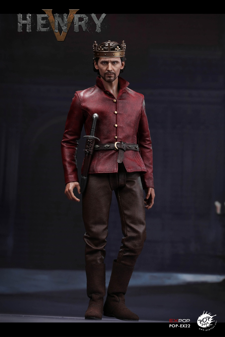 NEW PRODUCT: POPTOYS [WF2019 Shanghai Conference Edition]: 1/6 King of England - Henry V [The Throne Edition] POP-EX22 17591710