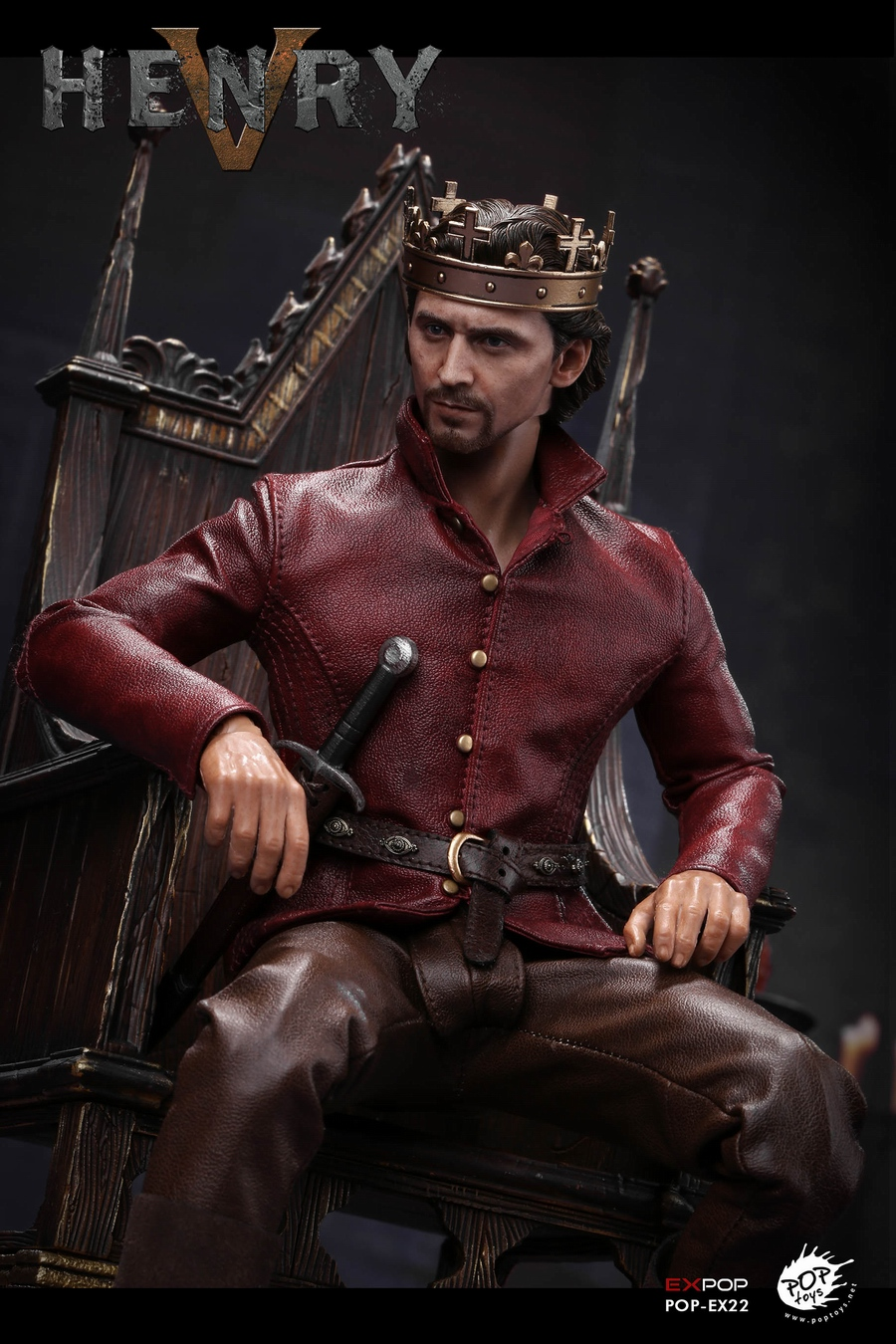 NEW PRODUCT: POPTOYS [WF2019 Shanghai Conference Edition]: 1/6 King of England - Henry V [The Throne Edition] POP-EX22 17591810