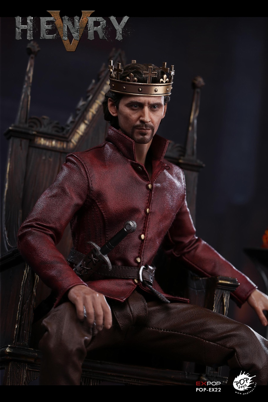 NEW PRODUCT: POPTOYS [WF2019 Shanghai Conference Edition]: 1/6 King of England - Henry V [The Throne Edition] POP-EX22 17592010
