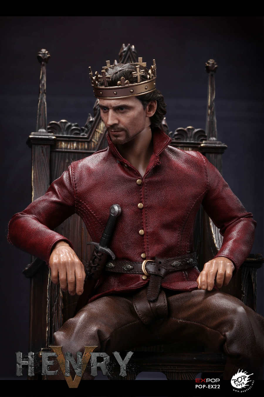 NEW PRODUCT: POPTOYS [WF2019 Shanghai Conference Edition]: 1/6 King of England - Henry V [The Throne Edition] POP-EX22 17592111