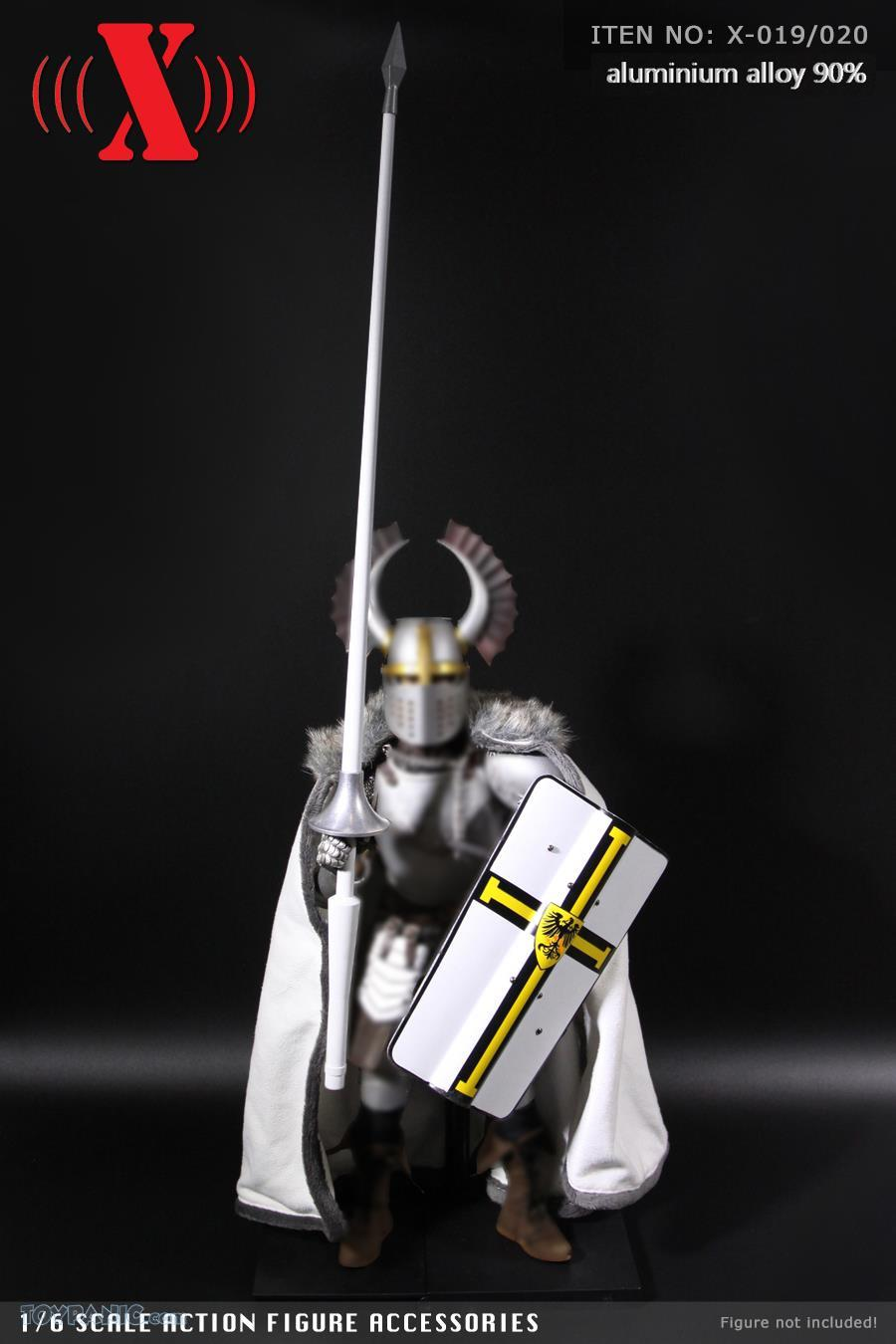 Shield - NEW PRODUCT: X TOYS: Medieval Weapons: Alloy Spear (Lance) (2 styles) & Aluminum Alloy Shield (4 styles) 1780