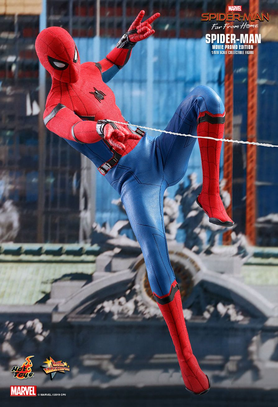 NEW PRODUCT: HOT TOYS: SPIDER-MAN: FAR FROM HOME SPIDER-MAN (MOVIE PROMO EDITION) 1/6TH SCALE COLLECTIBLE FIGURE 1796