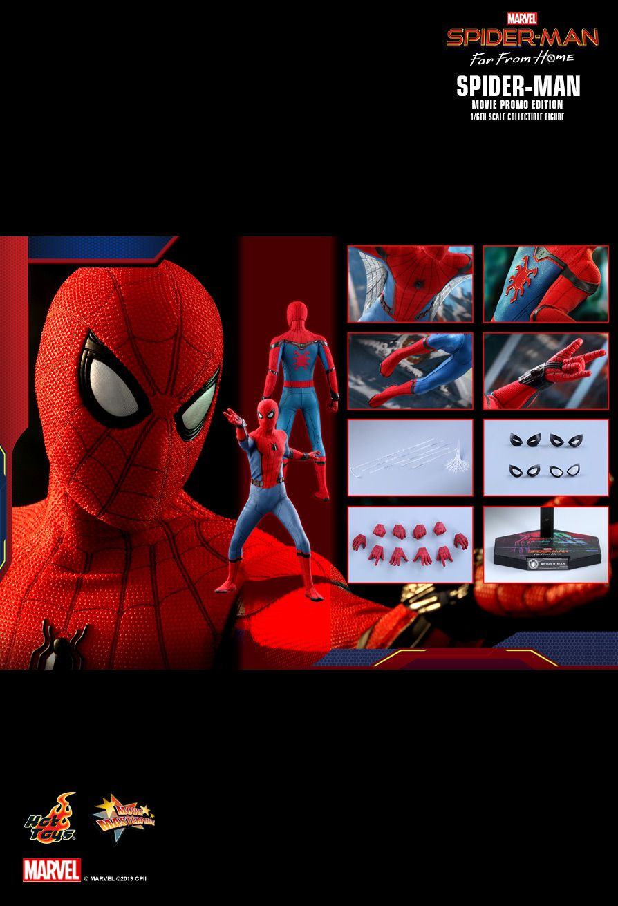 NEW PRODUCT: HOT TOYS: SPIDER-MAN: FAR FROM HOME SPIDER-MAN (MOVIE PROMO EDITION) 1/6TH SCALE COLLECTIBLE FIGURE 1797