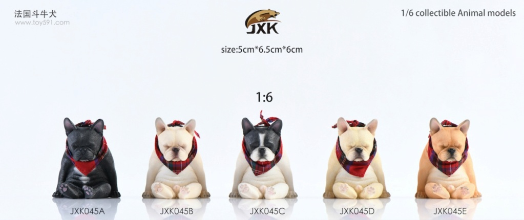 Dog - NEW PRODUCT: JXK 1/6 Decadent Dog JXK045 French Bulldog + Scarf 17ef0a10