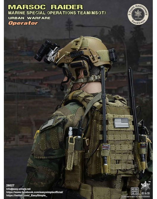 NEW PRODUCT: Easy & Simple 26027 1/6 Scale MARSOC Raider Urban Warfare Operator 18-52810