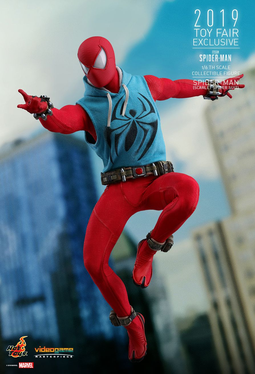 marvel - NEW PRODUCT: HOT TOYS: MARVEL'S SPIDER-MAN SPIDER-MAN (SCARLET SPIDER SUIT) 1/6TH SCALE COLLECTIBLE FIGURE 1800