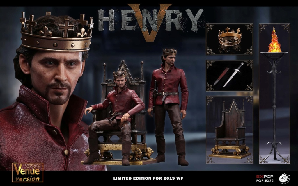 NEW PRODUCT: POPTOYS [WF2019 Shanghai Conference Edition]: 1/6 King of England - Henry V [The Throne Edition] POP-EX22 18014210