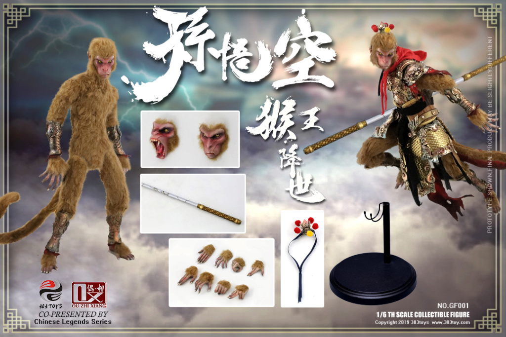 Mythology - NEW PRODUCT: 303TOYS x Evening phase: 1/6 National Wind Legend Series - Sun Wukong Monkey King Apocalypse & Dasheng Qitian & Stepping 18070010