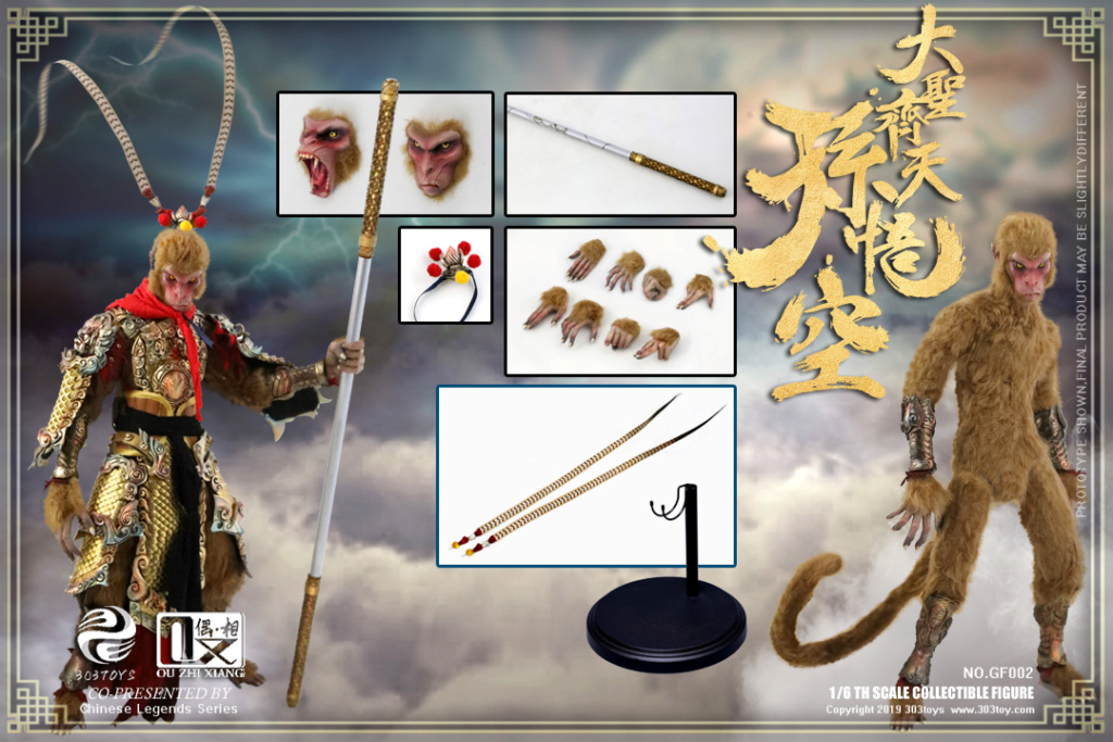 EveningPhase - NEW PRODUCT: 303TOYS x Evening phase: 1/6 National Wind Legend Series - Sun Wukong Monkey King Apocalypse & Dasheng Qitian & Stepping 18091210
