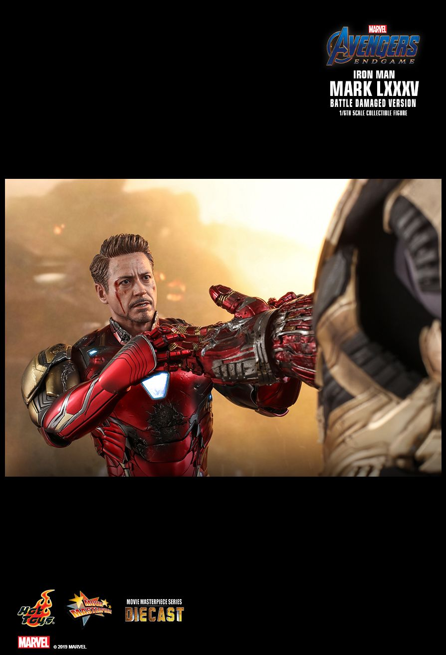 marvel - NEW PRODUCT: HOT TOYS: AVENGERS: ENDGAME IRON MAN MARK LXXXV (BATTLE DAMAGED VERSION) 1/6TH SCALE COLLECTIBLE FIGURE 18101