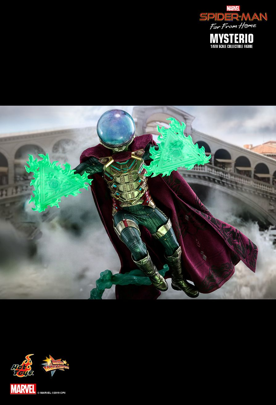 NEW PRODUCT: HOT TOYS: SPIDER-MAN: FAR FROM HOME MYSTERIO 1/6TH SCALE COLLECTIBLE FIGURE 18109