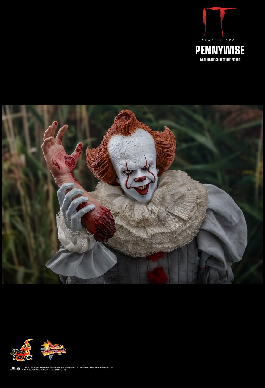 NEW PRODUCT: HOT TOYS: IT CHAPTER TWO PENNYWISE 1/6TH SCALE COLLECTIBLE FIGURE 18110