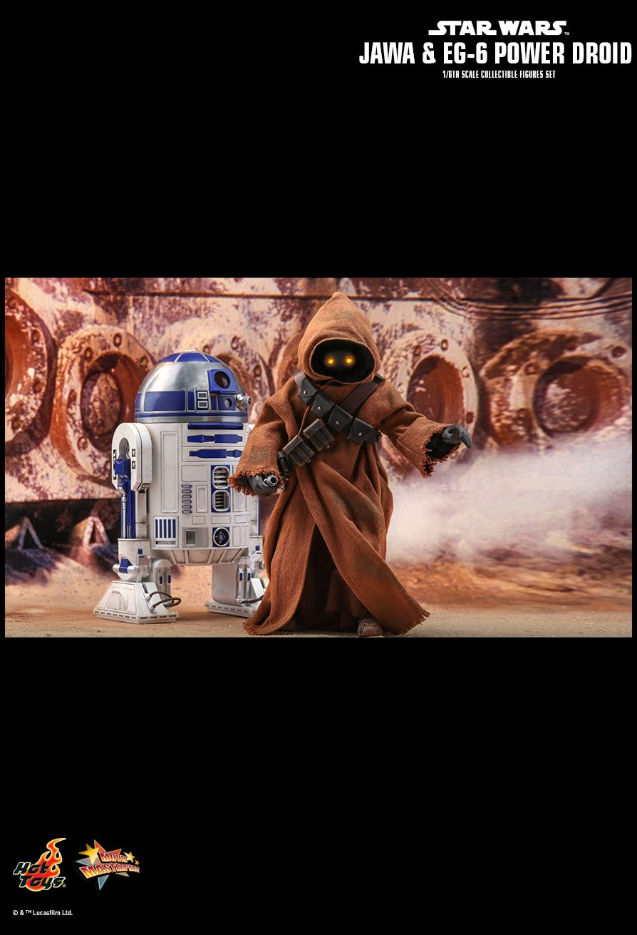 NEW PRODUCT: HOT TOYS: STAR WARS: EPISODE IV A NEW HOPE JAWA & EG-6 POWER DROID 1/6TH SCALE COLLECTIBLE SET 18111