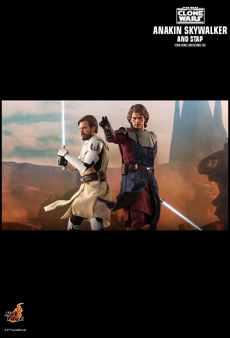 Sci-Fi - NEW PRODUCT: HOT TOYS: STAR WARS: THE CLONE WARS ANAKIN SKYWALKER AND STAP 1/6TH SCALE COLLECTIBLE SET 18165