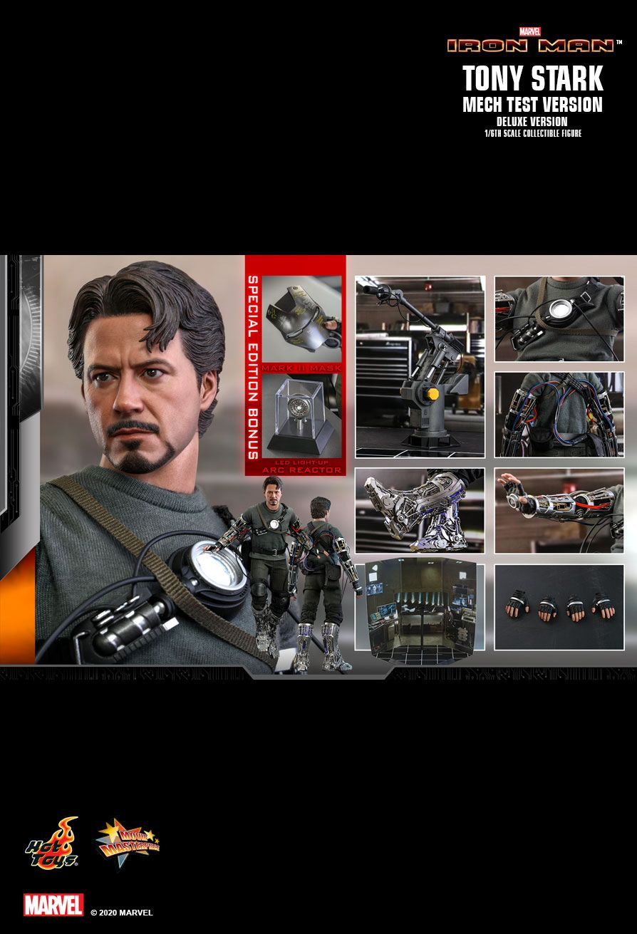 movie - NEW PRODUCT: HOT TOYS: IRON MAN TONY STARK (MECH TEST VERSION) (DELUXE VERSION) 1/6TH SCALE COLLECTIBLE FIGURE 18168
