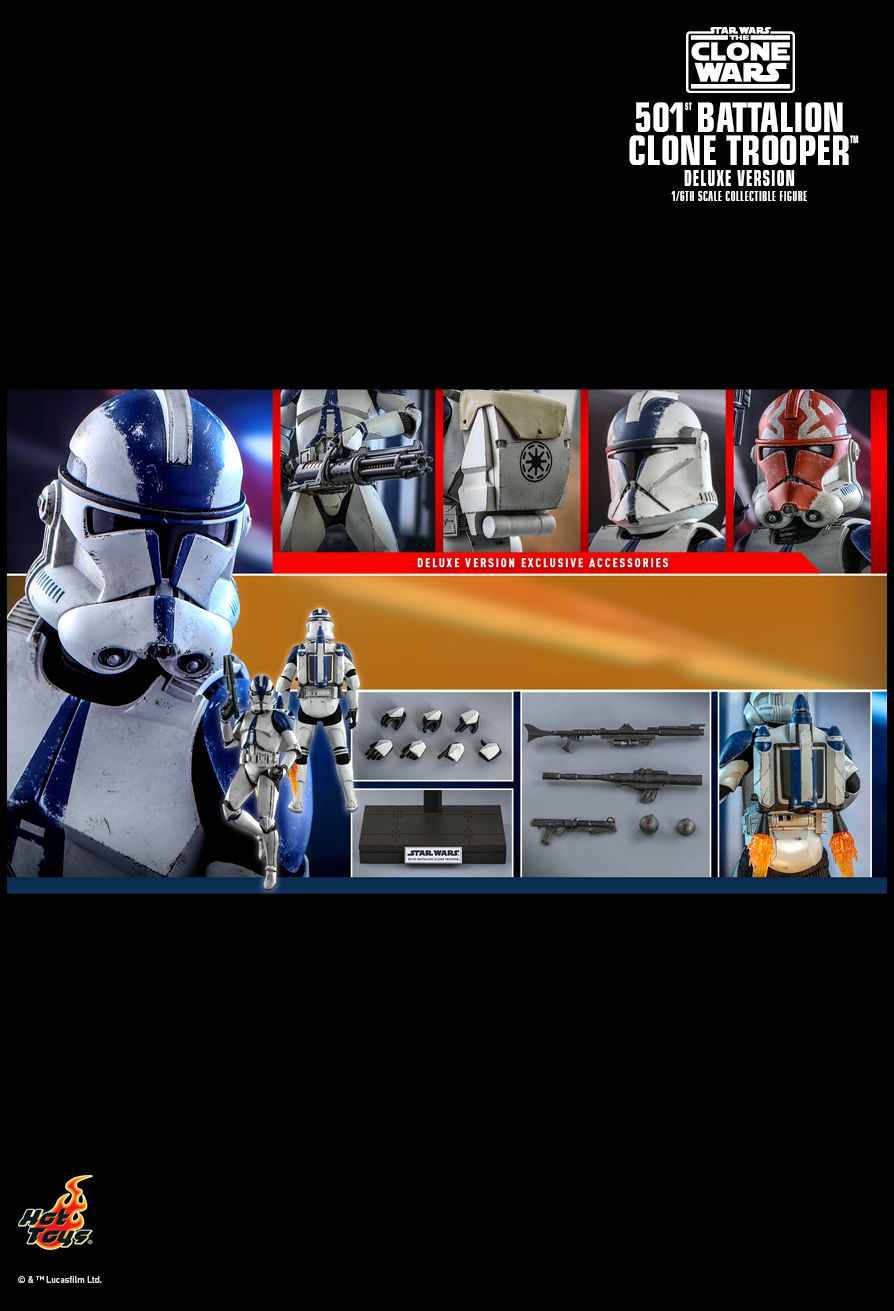 hottoys - NEW PRODUCT: HOT TOYS: STAR WARS: THE CLONE WARS™ 501ST BATTALION CLONE TROOPER™ (DELUXE VERSION) 1/6TH SCALE COLLECTIBLE FIGURE 18175