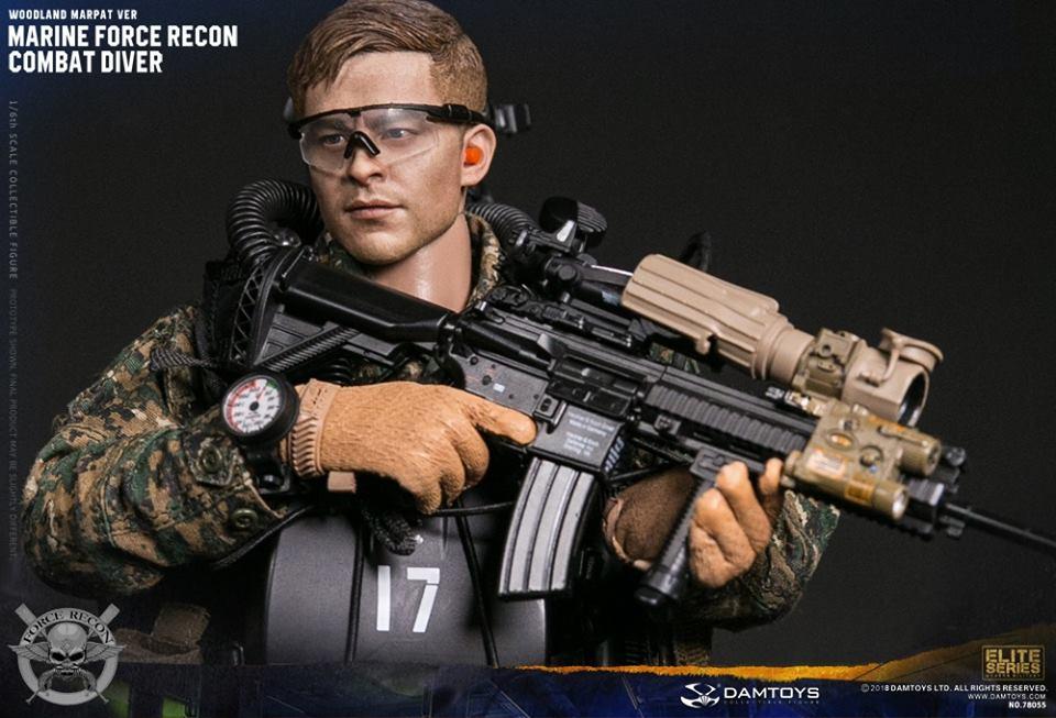 DamToys - NEW PRODUCT: DAM Toys: Marine Force Recon Combat Diver (Desert MARPAT) (GIDAM-78056) & (Woodland MARPAT) (GIDAM-78055) 1821