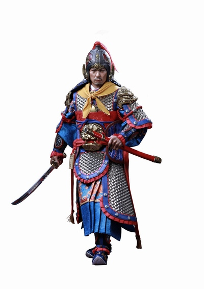 military - NEW PRODUCT: Ding Sheng Mo to play: 1/6 Out of the police into the big Han general (pure copper handmade mountain Wenjia) - gold armor version / silver armor version / dragon screen suit 18240010