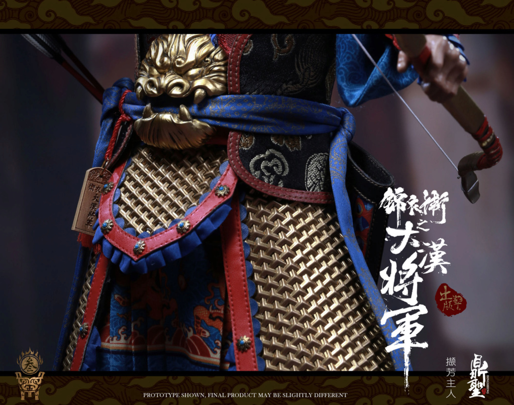 military - NEW PRODUCT: Ding Sheng Mo to play: 1/6 Out of the police into the big Han general (pure copper handmade mountain Wenjia) - gold armor version / silver armor version / dragon screen suit 18243910