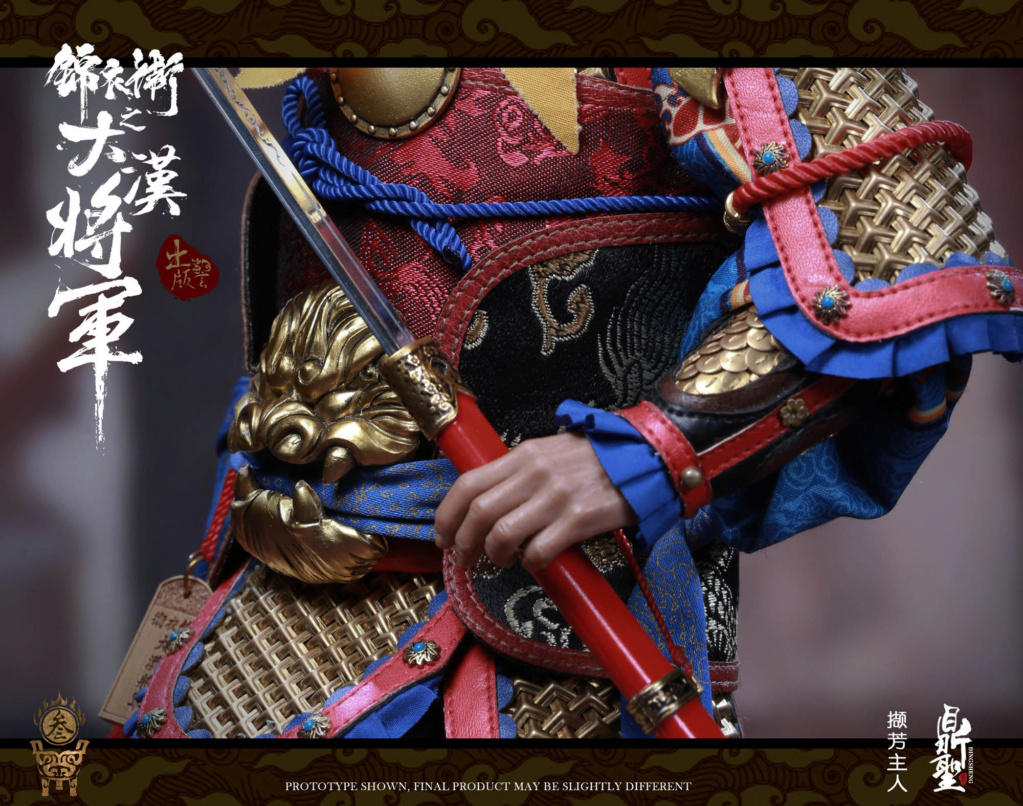 military - NEW PRODUCT: Ding Sheng Mo to play: 1/6 Out of the police into the big Han general (pure copper handmade mountain Wenjia) - gold armor version / silver armor version / dragon screen suit 18244110