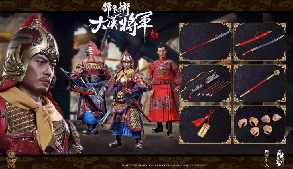 military - NEW PRODUCT: Ding Sheng Mo to play: 1/6 Out of the police into the big Han general (pure copper handmade mountain Wenjia) - gold armor version / silver armor version / dragon screen suit 18245310