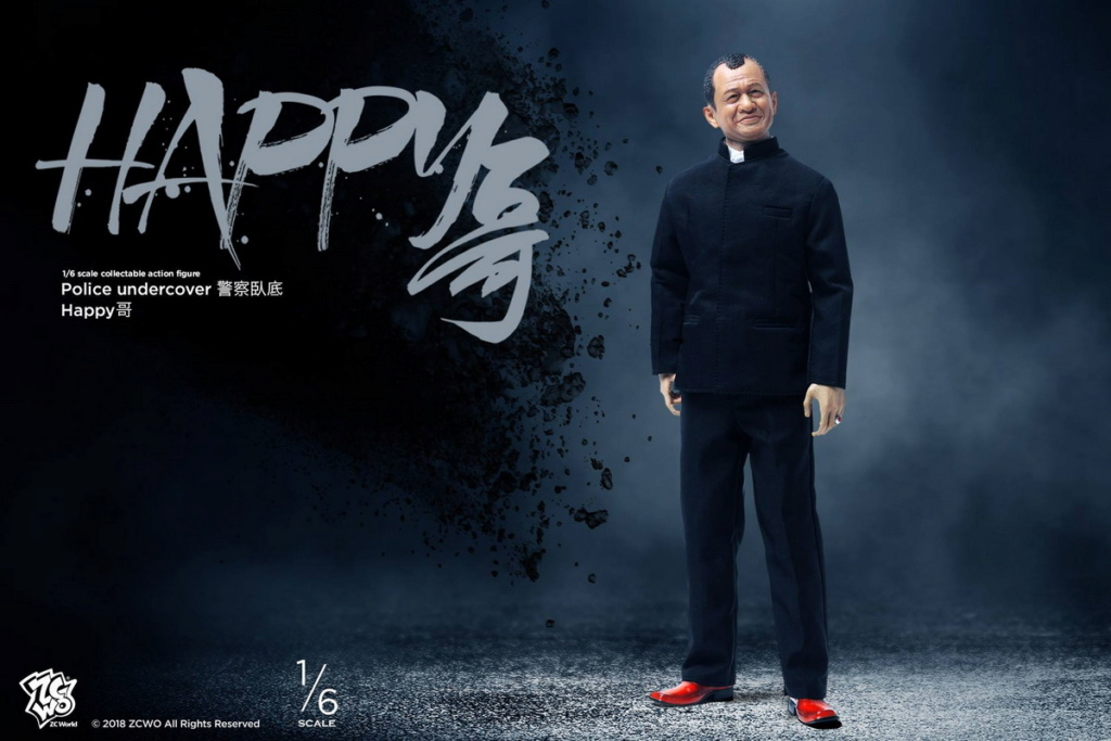 NEW PRODUCT: ZCWO New Products: 1/6 Police Series - Undercover Happy Brother & Escort Group Sir & Police Officer Sir [3 models] 18291710