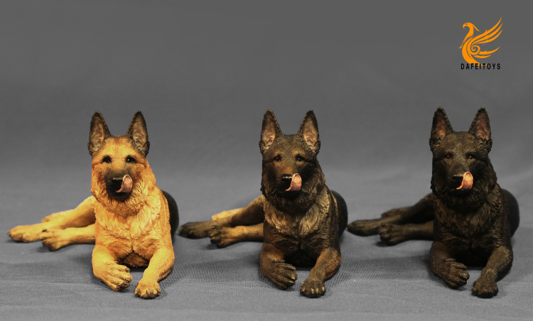 NEW PRODUCT: Dafei GK Studio New: 1/6 German Shepherd - Lying Position & Sitting Position 18333910