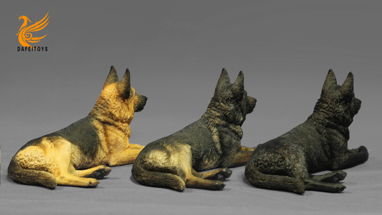NEW PRODUCT: Dafei GK Studio New: 1/6 German Shepherd - Lying Position & Sitting Position 18334210