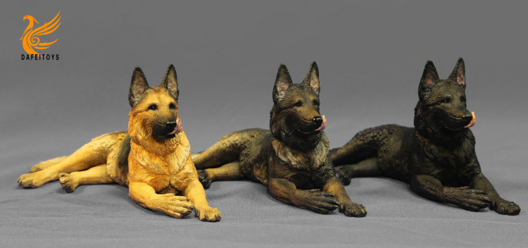 NEW PRODUCT: Dafei GK Studio New: 1/6 German Shepherd - Lying Position & Sitting Position 18334310