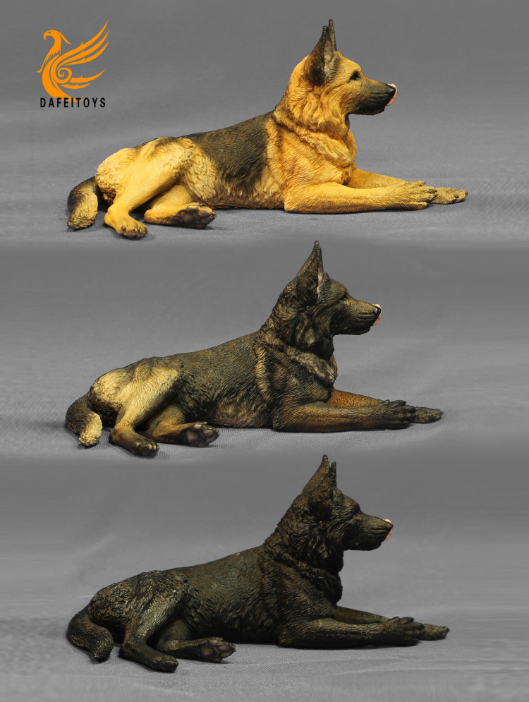 NEW PRODUCT: Dafei GK Studio New: 1/6 German Shepherd - Lying Position & Sitting Position 18334311