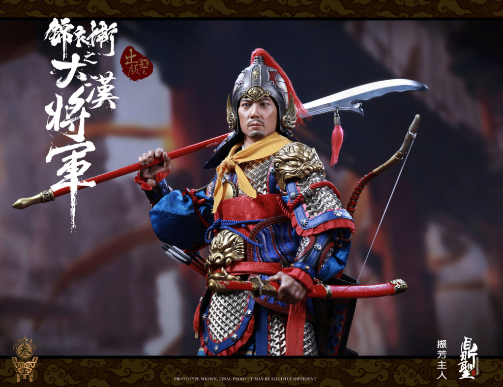 military - NEW PRODUCT: Ding Sheng Mo to play: 1/6 Out of the police into the big Han general (pure copper handmade mountain Wenjia) - gold armor version / silver armor version / dragon screen suit 18341810