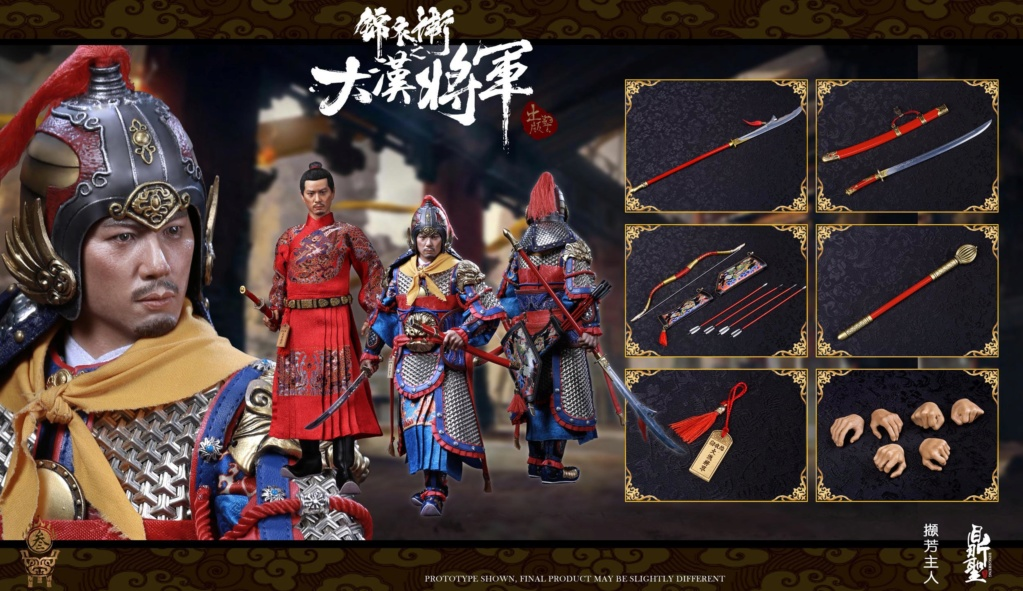 military - NEW PRODUCT: Ding Sheng Mo to play: 1/6 Out of the police into the big Han general (pure copper handmade mountain Wenjia) - gold armor version / silver armor version / dragon screen suit 18342310
