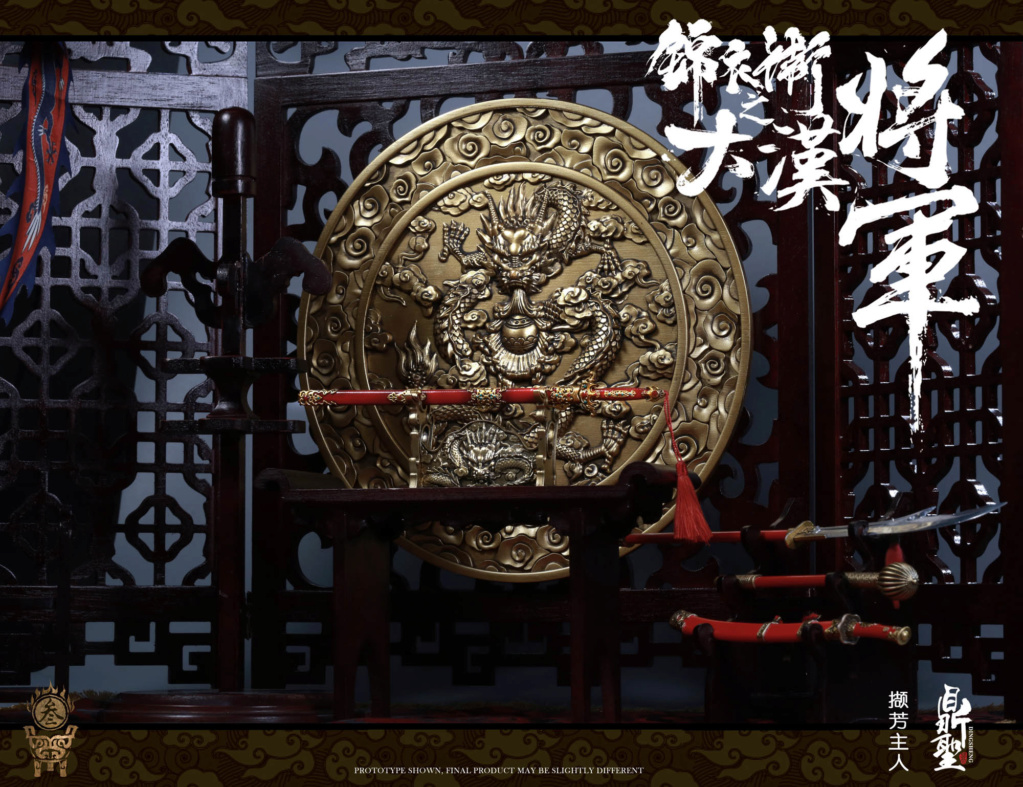 military - NEW PRODUCT: Ding Sheng Mo to play: 1/6 Out of the police into the big Han general (pure copper handmade mountain Wenjia) - gold armor version / silver armor version / dragon screen suit 18351410