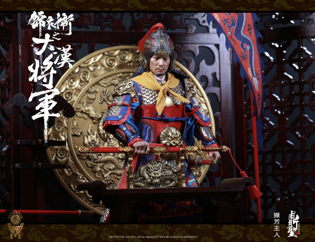 military - NEW PRODUCT: Ding Sheng Mo to play: 1/6 Out of the police into the big Han general (pure copper handmade mountain Wenjia) - gold armor version / silver armor version / dragon screen suit 18351710