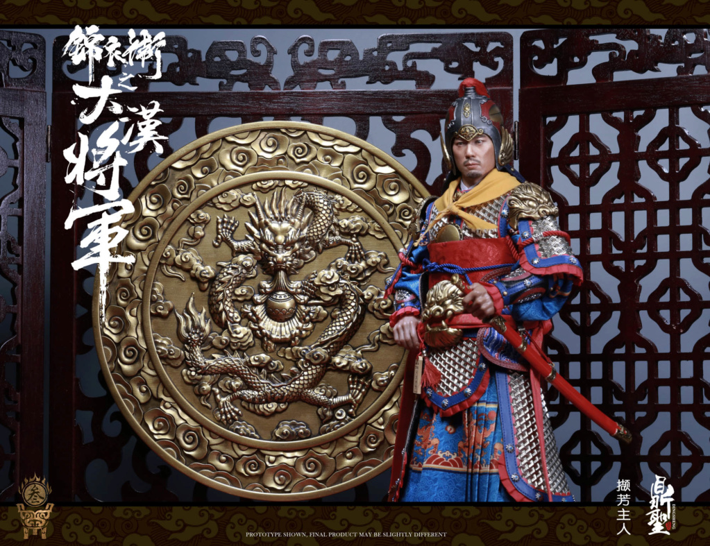 military - NEW PRODUCT: Ding Sheng Mo to play: 1/6 Out of the police into the big Han general (pure copper handmade mountain Wenjia) - gold armor version / silver armor version / dragon screen suit 18351910
