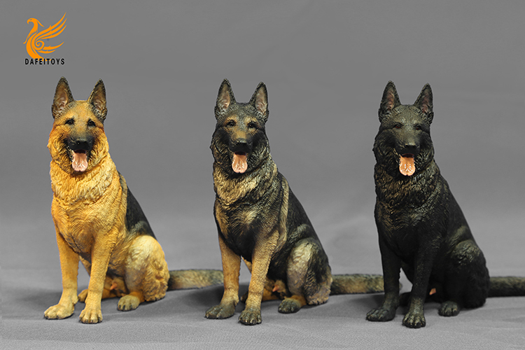 NEW PRODUCT: Dafei GK Studio New: 1/6 German Shepherd - Lying Position & Sitting Position 18353310