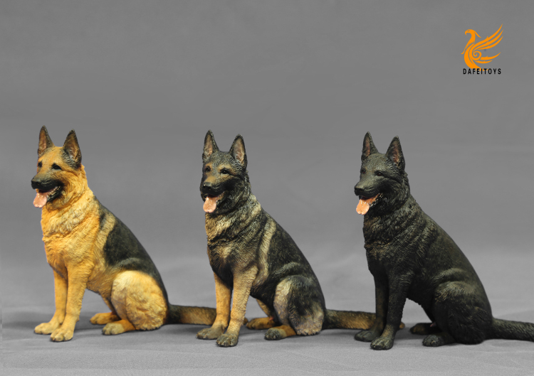 NEW PRODUCT: Dafei GK Studio New: 1/6 German Shepherd - Lying Position & Sitting Position 18353410