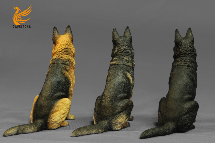 NEW PRODUCT: Dafei GK Studio New: 1/6 German Shepherd - Lying Position & Sitting Position 18353511