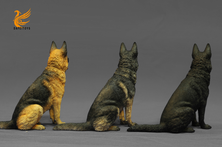 NEW PRODUCT: Dafei GK Studio New: 1/6 German Shepherd - Lying Position & Sitting Position 18353610
