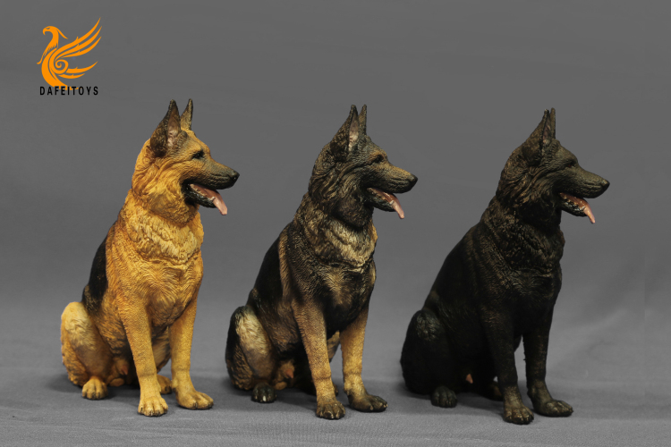NEW PRODUCT: Dafei GK Studio New: 1/6 German Shepherd - Lying Position & Sitting Position 18353611