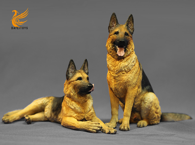 NEW PRODUCT: Dafei GK Studio New: 1/6 German Shepherd - Lying Position & Sitting Position 18353710