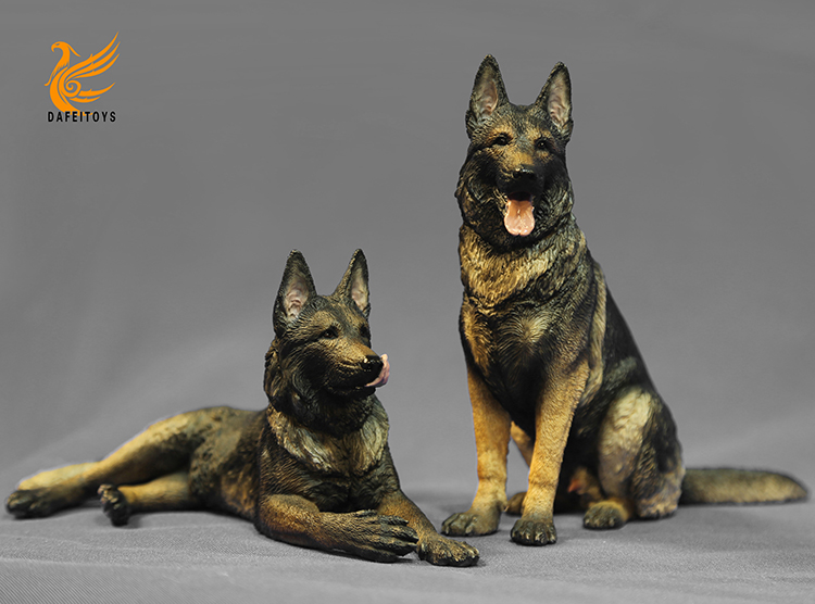 NEW PRODUCT: Dafei GK Studio New: 1/6 German Shepherd - Lying Position & Sitting Position 18353810